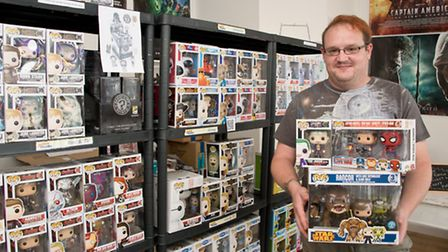 John Tancock selling lots of Funko Pop collectables.