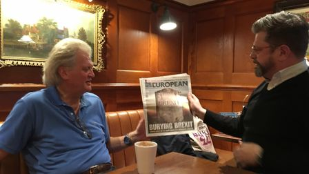 An education: Steve Anglesey had a gift for Wetherspoons boss Tim Martin when the pair met in Norwic
