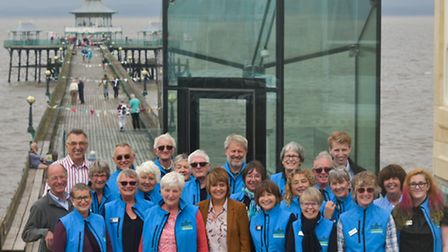 Trustees and volunteers at Clevedon Pier which has been shortlisted for an award.