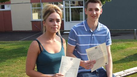 Head boy Lewis Cheetham is heading to LSE to study economics and politics while head girl Amy Franci