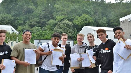 Clevedon School GCSE results. Picture: Mike Thie