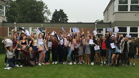 The Year 11 pupils at Backwell School.