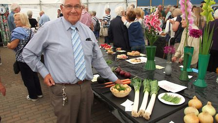Dave Rock won five prizes at this year's Weston Flower Show.