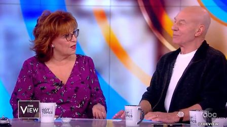 Sir Patrick Stewart appears on The View. Photograph: ABC.