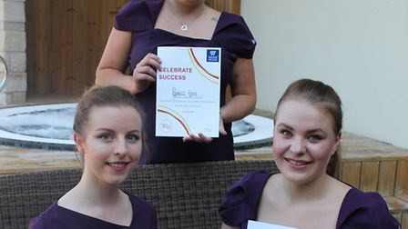 Charlotte Rogers, Jessica Saundry and Rebecca Whiting with their awards.