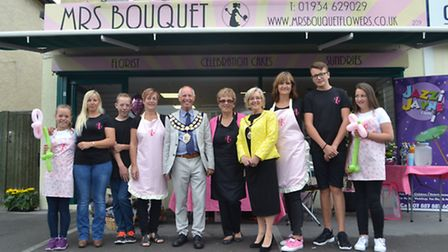 The Mayor and Mayoress of Weston-super-Mare with the family.