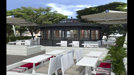 An artist's impression of what the kiosk would have looked like. Picture: CGM Bristol.