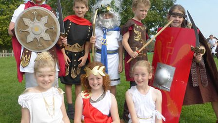 Pupils from Golden Valley Primary School enjoyed learning about the Romans.