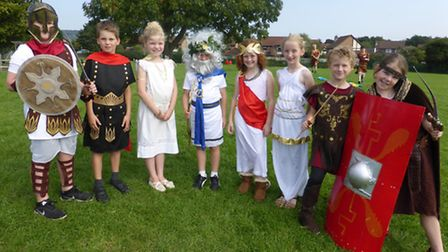 Golden Valley pupils spent the day as Roman soldiers.
