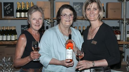 Aldwick vineyard manager Elizabeth Laver with Mary Watts and Sandy Luck, her daughter and Aldwick's