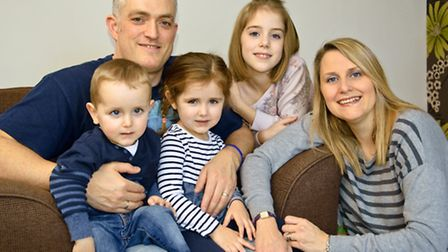 Nicola and Jacob Baird with their family.