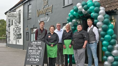 Frank and Paul Sprackman with their team including manager Martyn Gavin and chef Heidi Moffat, The W