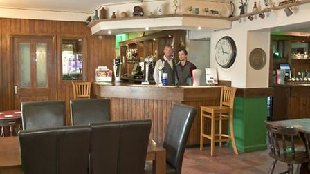 Paul Sprackman with manager Martyn Gavin, The Woodspring Tap, High Street, Worle.