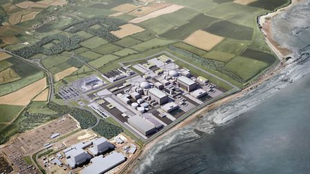 The proposed Hinkley C power plant.