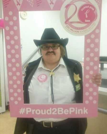 Michelle spent a day as a sherriff... (Picture: Asda)