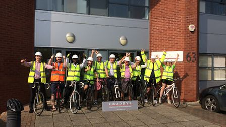 Craddy's staff cycled to work.