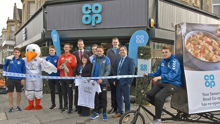 Ribbon cutting by Matthew Bazel from the Sports Active Seagulls Community Trust with Kym Withers Co-