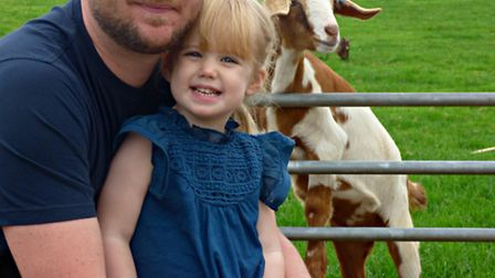 Dave and his young daughter Lili helped Noah's Ark Zoo Farm past the two million visitors mark.