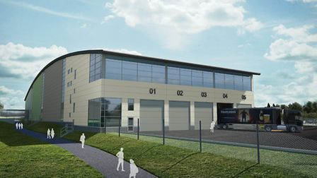 An artists' impression of the proposed new warehouse at Thatchers Cider.