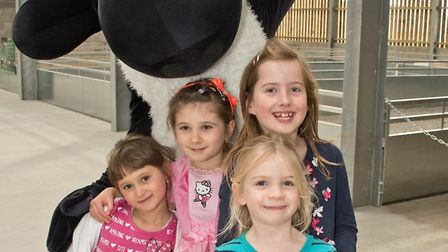 Shaun the Sheep with visitors.