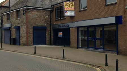 The Arcade in Nailsea is being refurbished at the moment.