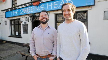 James and Simon outside their new business venture