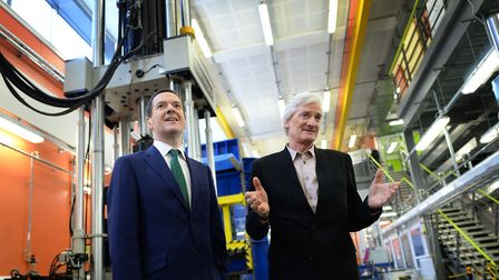 Sir James Dyson pictured with the former chancellor George Osborne. Photograph: Stefan Rousseau/PA.
