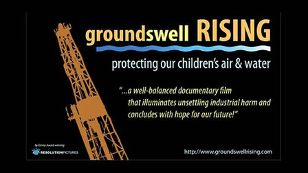 Poster for the anti-fracking film which has been screened in Weston.