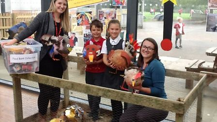 Chicken--related fundraisers were held at Yeo Moor Primary School in Clevedon.