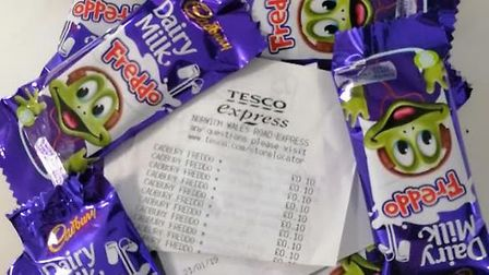 Freddos bought from Tesco for 10p. Photo: Archant