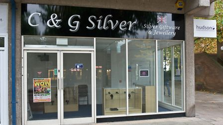 Crown Glass Shopping Centre, Nailsea. New jeweller C & G Silver.