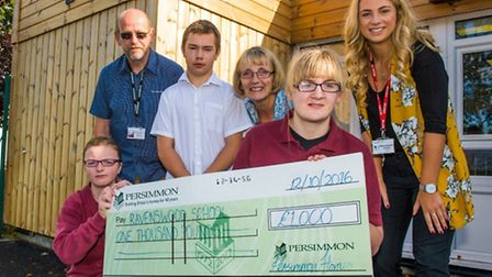 Persimmon Homes donating £1,000 to Ravenswood School.
