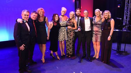 The team from thespa at DoubleTree by Hilton, Cadbury House, at the 2016 National Fitness Awards.