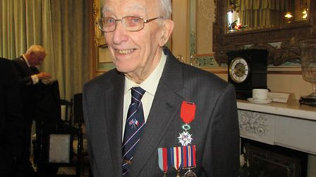 Alan Griffiths received the Legion d'Honneur for his role in the 1944 D-Day Landings.
