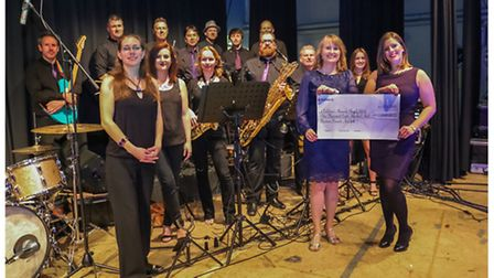 Portishead LeRoc with the cheque.