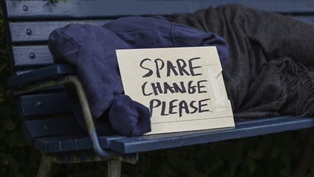 The number of homeless people in Weston-super-Mare is rising.