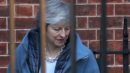 Prime Minister Theresa May leaves 10 Downing Street, London, for the House of Commons. (Steve Parson