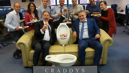 Craddy's toilet twinning event.