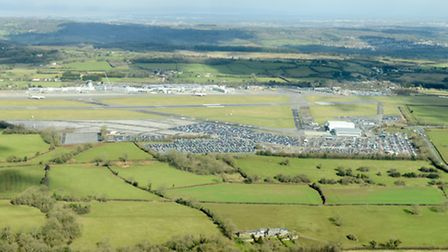 Bristol Airport from the sky