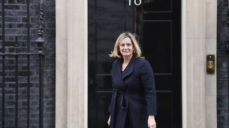 Work and Pensions Secretary Amber Rudd leaves 10 Downing Street. Photograph: Stefan Rousseau/PA.