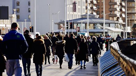 The crowds were out enjoying the early January sun - but did they go shopping? (Picture: James Walte