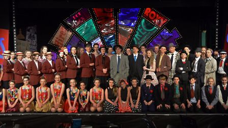 The cast of Clevedon School's Guys And Dolls production.