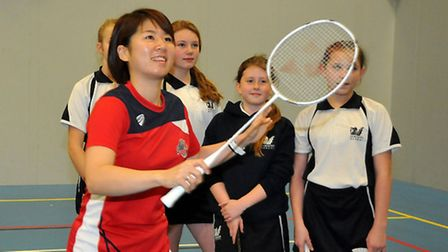 Gordano School welcomed Olympic silver medallist Mizuki Fujii and the Bristol Jets badminton team fo