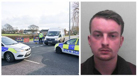 James Bisset (right) was arrested at the scene. Picture: Mark Atherton