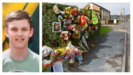 The death of Alex Gould (left) saw people leave tributes along Clevedon Road.
