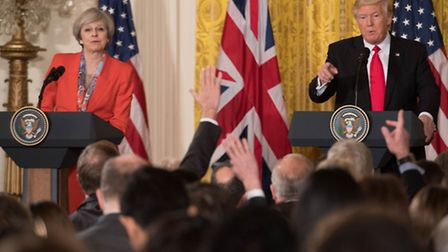 The letter was sent last wek as Prime Minister Theresa May met US President Donald Trump. Picture: S