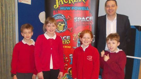 Huw Powell visiting All Saints Primary School.