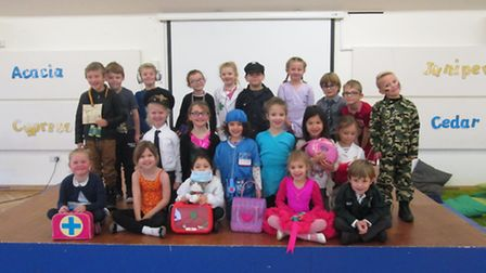 Pupils dressed up at Tickenham Primary School.
