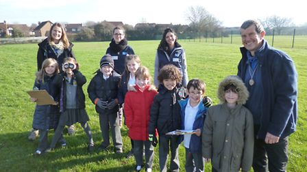 The children counted birds as part of the RSPB's national campaign.