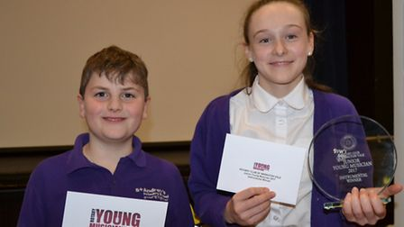 Shaun and Nyree from St Andrew's Primary School in Congresbury.